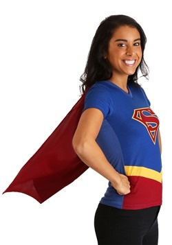 Supergirl Women's Cape Costume T-Shirt