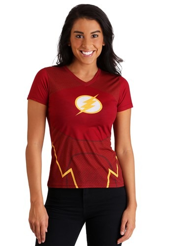 Women's The Flash Character Costume T-Shirt