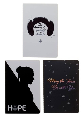 Star Wars Leia 3 Pack Softcover Journal Set