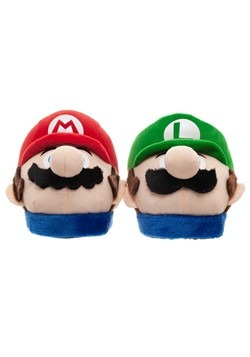 Adult Super Mario Bros. Mario & Luigi Plush 3D Slippers