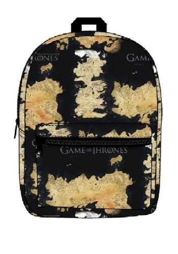 Game of Thrones Westeros and Essos Map Backpack