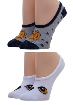 Harry Potter Hogwarts & Hedwig Womens Sock Liners 2-Pack