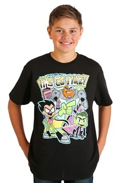 Teen Titans Go Boy's Black T-Shirt