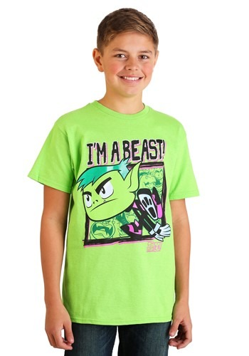 Boys Teen Titans Go- I'm A Beast Green T-Shirt