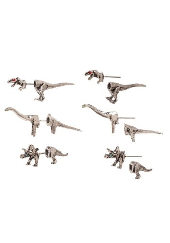 Jurassic Park 3D Dinosaur Earring 3-pack