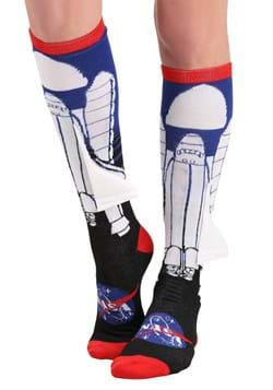 NASA Space Ship w/ 3D Wing Knee High Socks