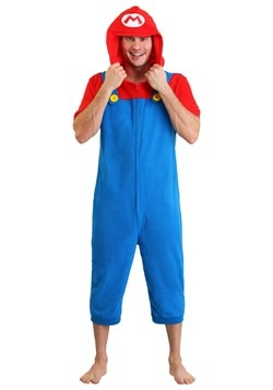Men's Mario Cosplay Romper