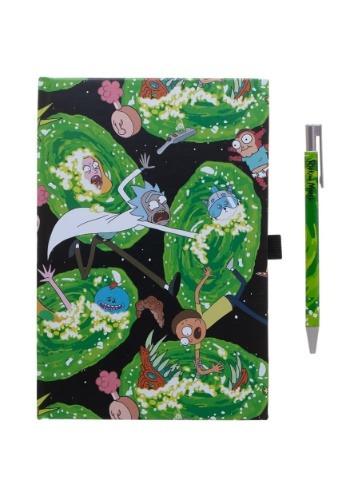 Rick & Morty Portals Journal and Pen Set