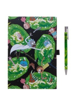 Rick & Morty Portals Journal and Pen Set
