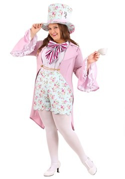 Women's Pretty Mad Hatter Plus Size Costume