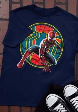 Boys Iron Spider-Man Navy T-Shirt-1