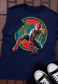 Boys Iron Spider-Man Navy T-Shirt
