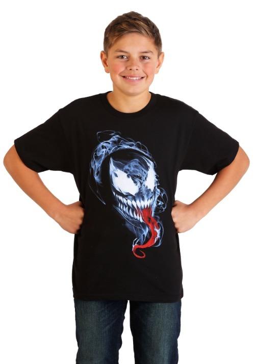 Boys Marvel's Venom Smokey Mask Black T-Shirt