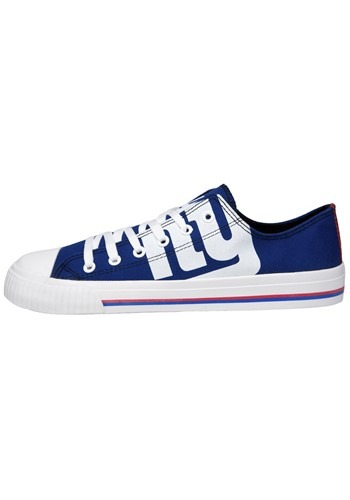 Youth New York Giants Low Top Canvas Shoes