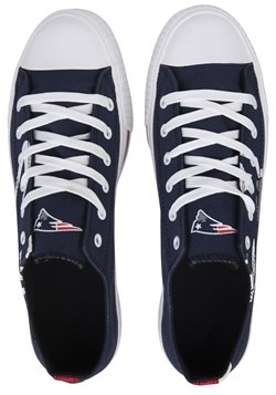 Youth New England Patriots Low Top Canvas Shoe Alt1