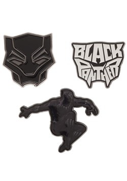 Black Panther 3 Piece Lapel Pin Collectible Set