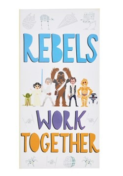 "Star Wars ""Rebels Work Together"" Canvas Wall Decor"
