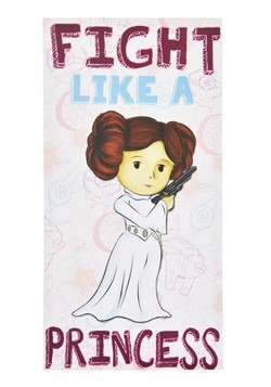"Star Wars ""Fight Like a Princess"" 12"" X 24"" Wall Canvas"