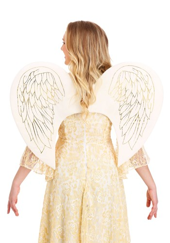 The Adult Gold Print Angel Wings