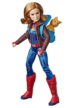 Marvel Comics Captain Marvel Adventure Doll w/ Goose Cat
