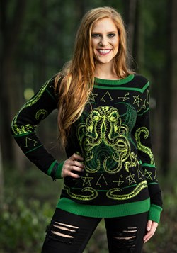 Rage of Cthulhu Adult Ugly Halloween Sweater
