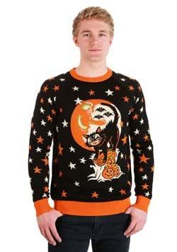 Vintage Halloween Cat Ugly Halloween Sweater Alt 5