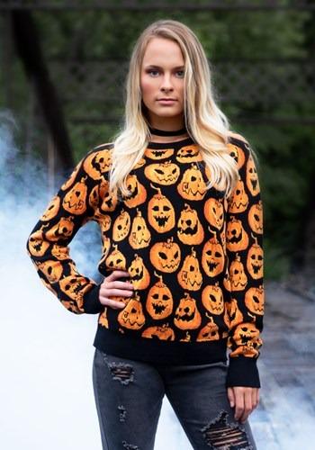 Pumpkin Frenzy Ugly Halloween Sweater 1