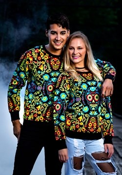 Sugar Skull Ugly Halloween Sweater for Adults