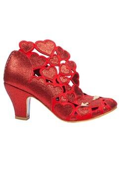 Irregular Choice 'Meile' Cut Out Hearts Red High Heels Alt1