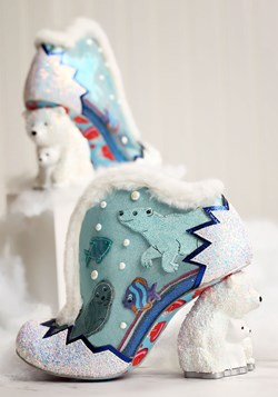 Irregular Choice Family Reunion 'Fuzzy McFrosty' Heels