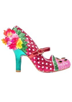 """""""Crimson Sweet"""" Pink/Green Irregular Choice Heels Alt1"""