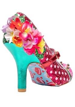 """""""Crimson Sweet"""" Pink/Green Irregular Choice Heels Alt2"""