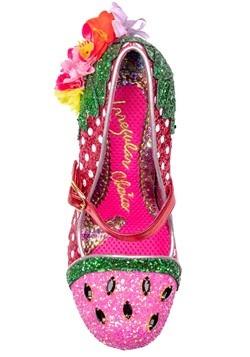 """""""Crimson Sweet"""" Pink/Green Irregular Choice Heels Alt3"""