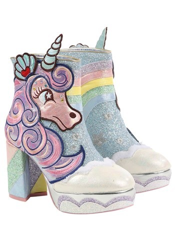 Irregular Choice 'Daisy Dreams' Unicorn Heeled Boots