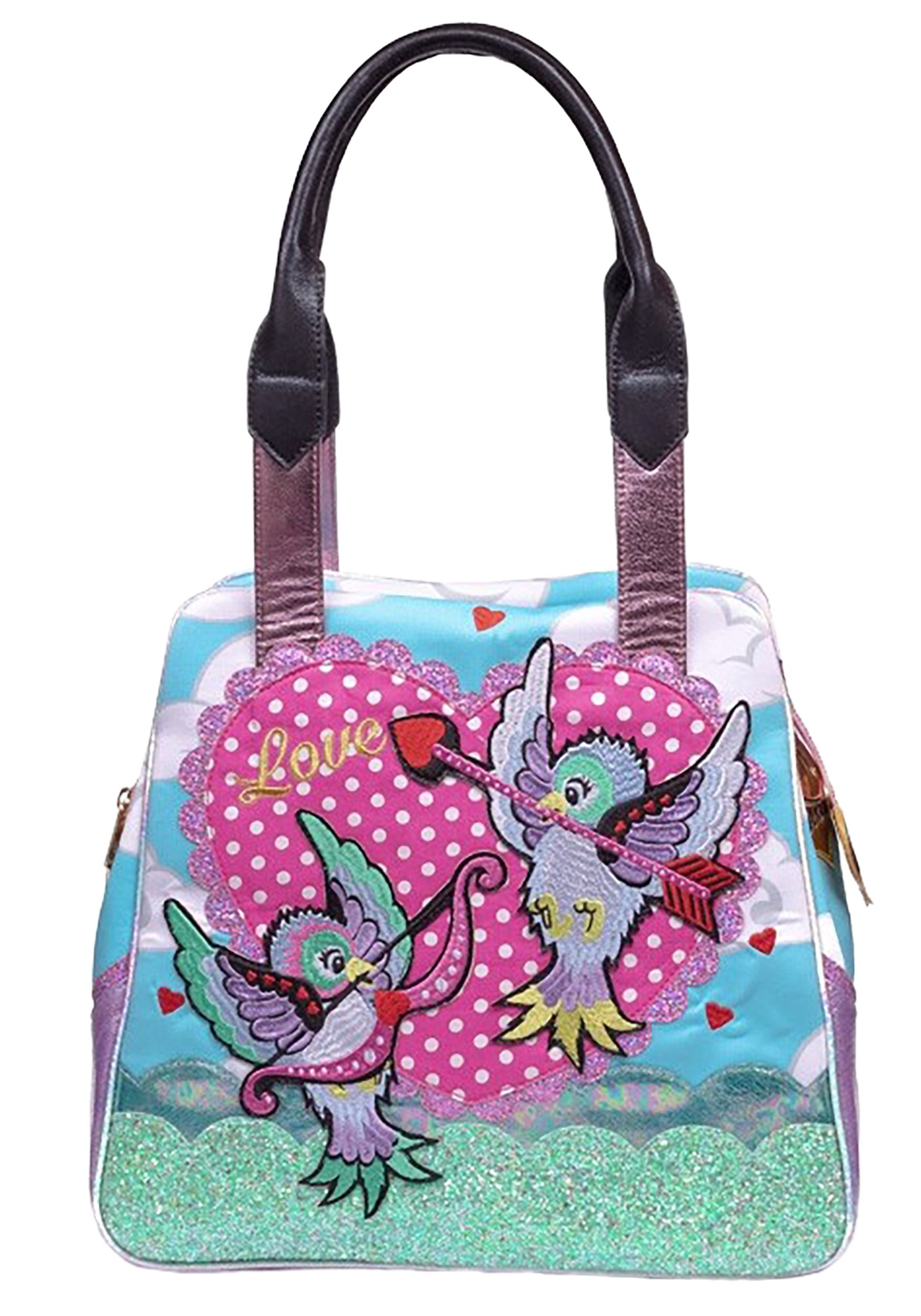 Irregular Choice Cupid Bird Blue Handbag Purse