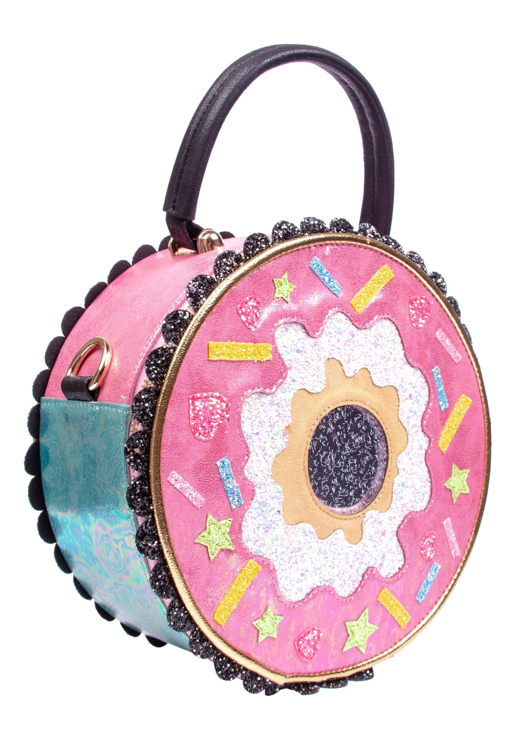 Irregular Choice Donut Worry Pink & White Purse