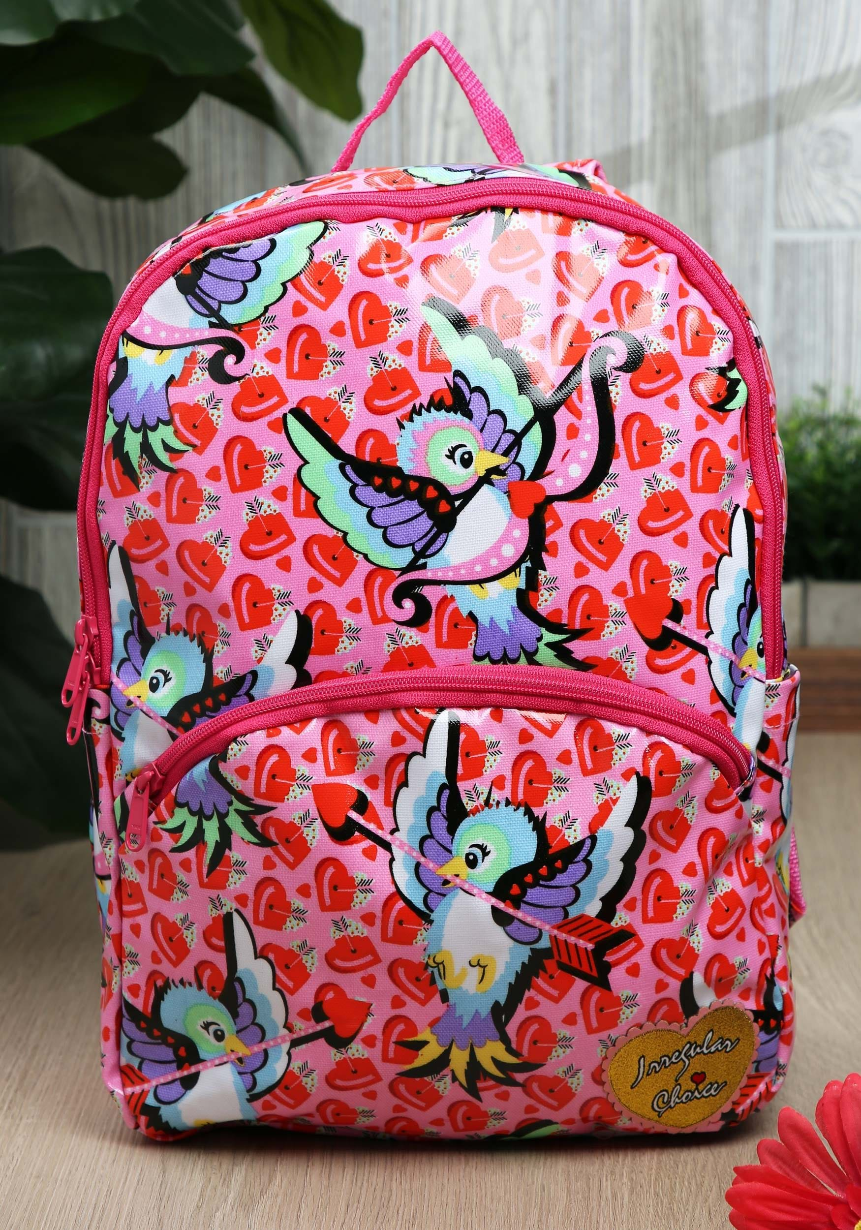 Irregular Choice Cupid Bird Pink Back Pack