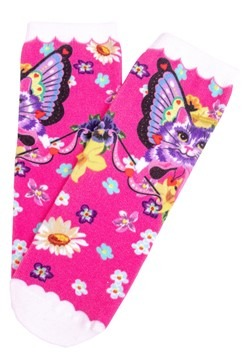 Irregular Choice Women's Mau Cat Print Socks alt1