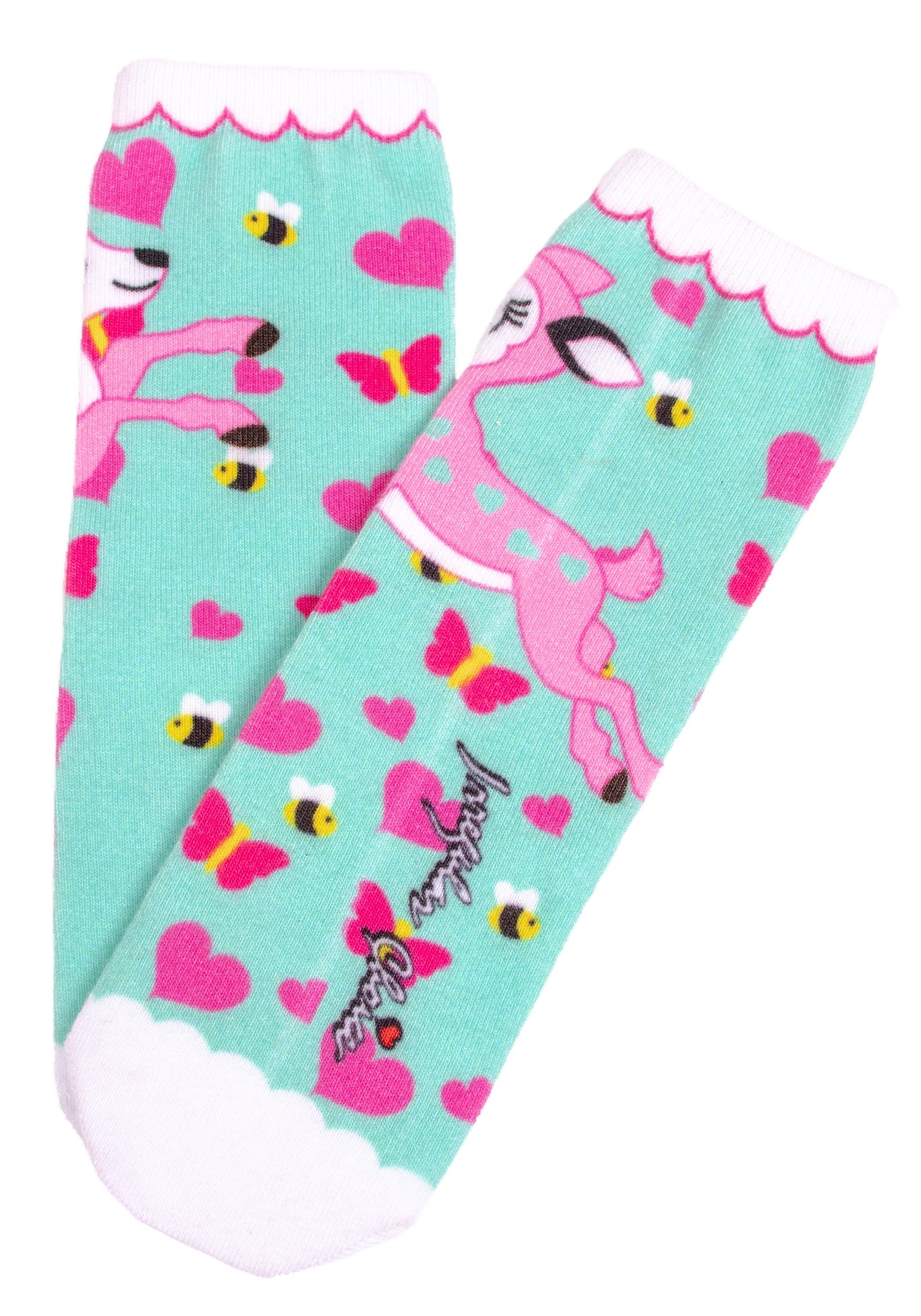 Women's Irregular Choice Fantastic Fawn Print Socks