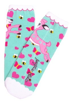 Irregular Choice Women's Fantastic Fawn Print Socks