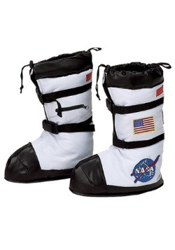 Kids White Astronaut Boot Tops