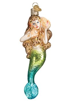 Mermaid Glass Blown Hanging Ornament