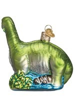 Brontosaurus Glass Blown Hanging Ornament Alt1