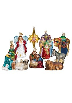 9-Piece Nativity Ornament Collection