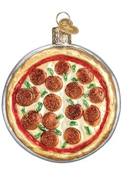 Pizza Pie Glass Blown Ornament