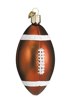 Football Glass Blown Ornament