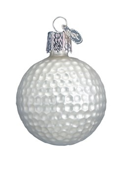 Golf Ball Glass Blown Hanging Ornament