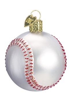 Baseball Glass Blown Hanging Ornament