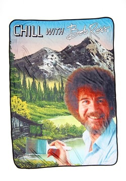 Bob Ross Chill Throw
