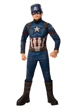 Avengers Endgame Boys Captain America Deluxe Costu